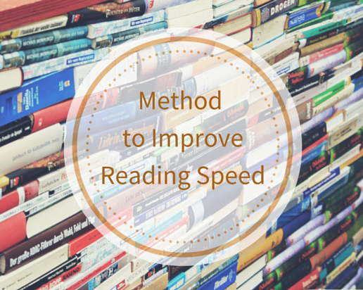 Here is a Method to Improve Reading Speed